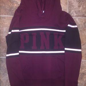 Maroon Long Sleeve VS Pink Hoodie